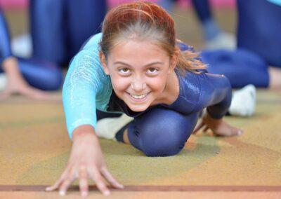 Sourire de jeune athlète