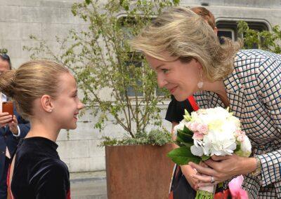 Visite de la Reine des Belges
