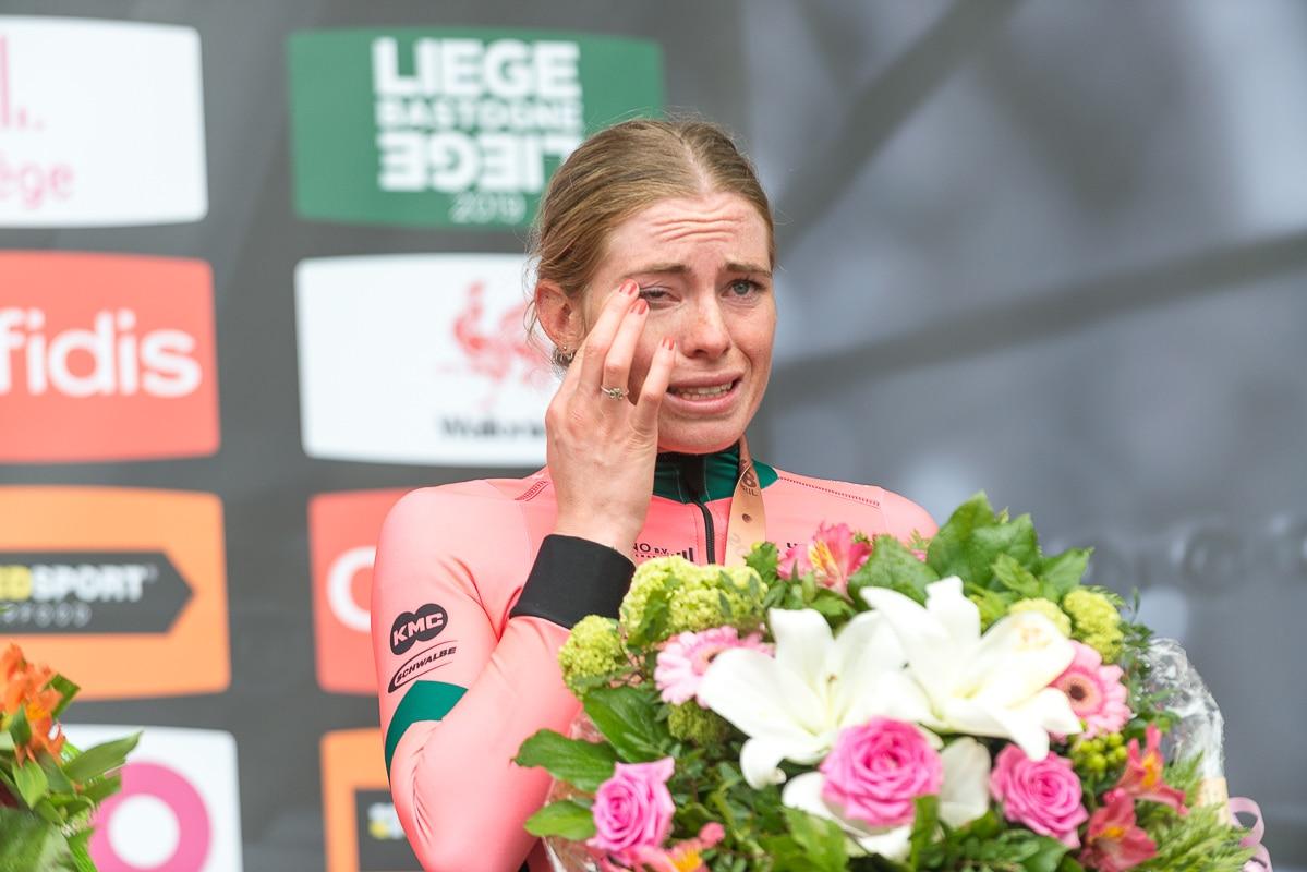 Liège sport, Liège-Bastogne-Liège, l'émotion de la championne