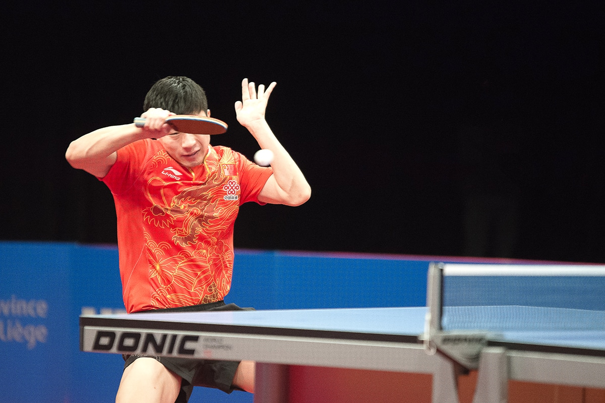 Liège Sport, tennis de table, Ma Long